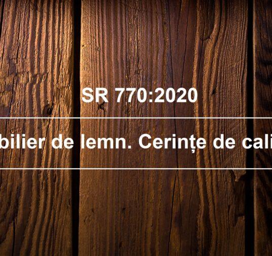 A apărut SR 770:2020 – Mobilier de lemn. Cerințe de calitate